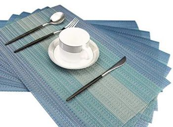 Best Placemats for Wood Table - Bright Dream Washable Tablemats for Wooden Dining Table