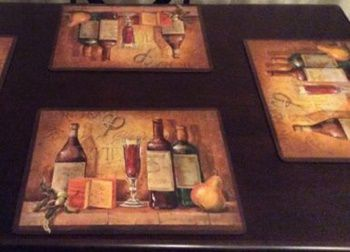 Best Placemats for Wood Table - Benson Mills Bordeaux Heat Resistant TableMats