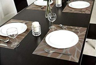 Best Placemats for Wood Table - HEBE Heat Resistant, Non-Slip, Washable Tablemats