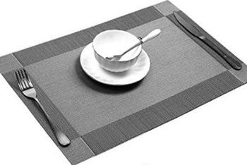 Best Placemats for Wood Table - UArtlines Non-Slip Heat Insulation Washable Tablemats