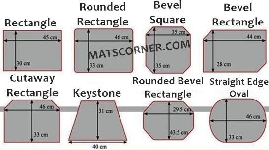 placemats size chart - MatsCorner