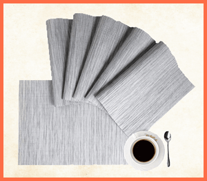 heat resistant placemats for wood table