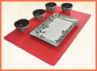 Thick Placemats for Wooden Table