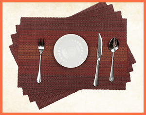 best heat resistant placemats for wooden table