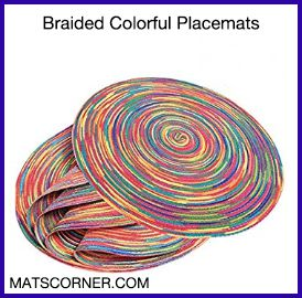 Braided Colorful Round Placemats for Dining Table