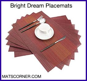 Bright Dream Round Placemats for Wooden Table