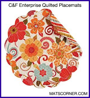 C&F Enterprise Quilted Round Placemats