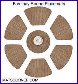 Famibay Round Placemats - Best Heat Resistant Placemats