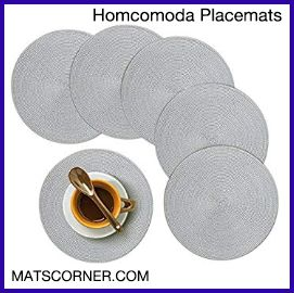 Homcomoda Round and Washable Placemats for Round Tables