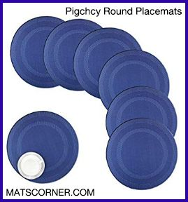 Pigchcy Round Placemat - Best Waterproof Placemats for Round Table