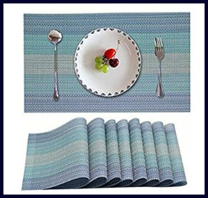 Candumy Blue Placemats for Kitchen Table