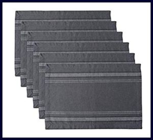DII 100% Cotton Placemats for Outdoor Tables