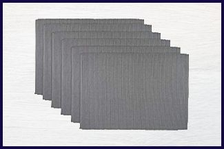 DII Ribbed - Heat and Stain Resistant Placemats