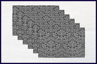 DII Woven Damask - Best Vinyl Placemats Amazon