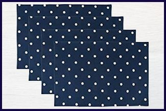 Printed Reversible Polka Dot Placemats