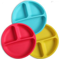 WeeSprout Best Silicone Plates for Toddlers