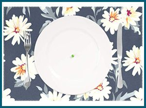 Blueangle Daisy Art – Best Placemats for Kitchen Table