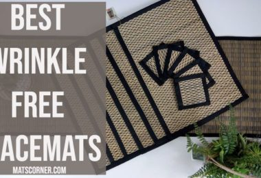 Best Wrinkle Free Placemats [Wrinkle-Resistant Table Mat]