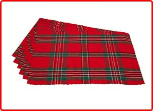 DII Holiday Plaid Placemats for Christmas Evening
