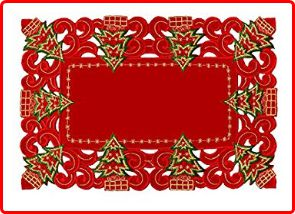 Grelucgo Christmas Holiday Season Placemats