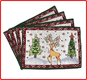 Tache Winter Forest Reindeer Placemats for Christmas Eve