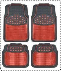 BDK MT614RDAMw1 Metallic Rubber Floor Mats for SUV