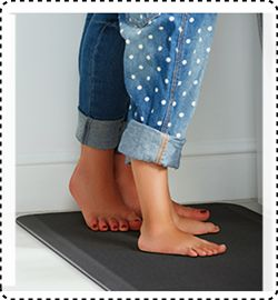 """Thick /& Comfy Barber Shop Floor Mat for Joint Stress /& Muscle Fatigue Relief 48/"""""""