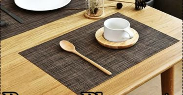 Pauwer Placemats Review Heat Resistant Placemats for Glass & Wood Table