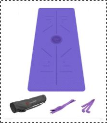 FrenzyBird Extra Thick Yoga Mat with Carry Strap