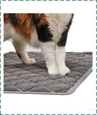 Gorilla Grip Litter Mat for Cats - Durable & Water Resistant