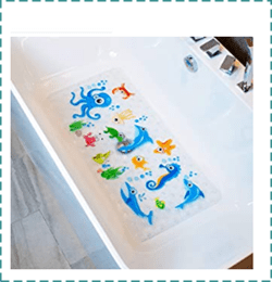 BEEHOMEE Anti Slip Bathtub Mat for Kids
