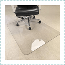 MuArts Chair Mat for Carpet & Hardwood Floor