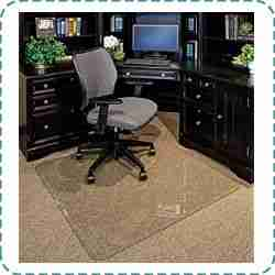Clearly Innovative Thick Tempered Glass Chair Mat
