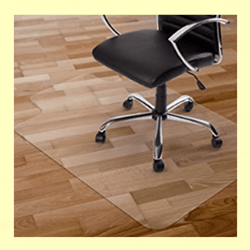 Kuyal Transparent Chair Mat for Wood Floor