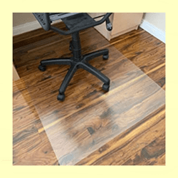 Rose Home Hard Floor Mat for Computer Chair