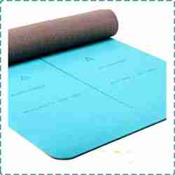 Heathyoga Yoga Mat with Body Alignment System