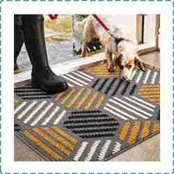 Color&Geometry Front Doormat for Hard Floor
