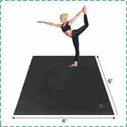 Gxmmat Extra Large Exercise Mats for Hard Floors