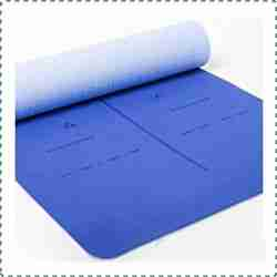 Heathyoga Eco Friendly Yoga Mat with Body Alignment Marks