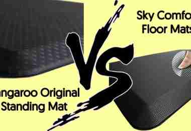 Kangaroo Original Standing Mat Vs Sky Mat Comfort Floor Mat